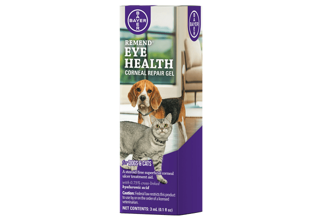 Dropper bottle of 3mL Remend® Corneal Repair Gel for Dogs and Cats.